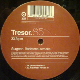 Surgeon - Basictonal-remake - Tresor - Tresor 85