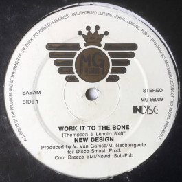 New Design - Work It To The Bone - MG Records - MG 66009