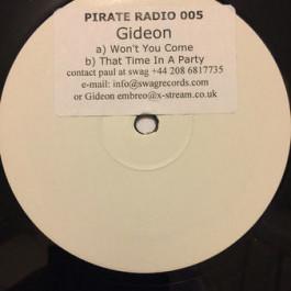 Gideon Jackson - Won't You Come - Pirate Radio - PR005