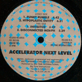 Accelerator - Accelerator E.P. II - Next Level - Re-load Records - REL 952105