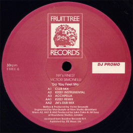 NY's Finest / Victor Simonelli - Do You Feel Me - Fruittree Records - FTREE 6