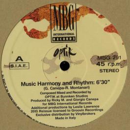 Optik - Music Harmony And Rhythm - MBG International Records - MBG 291