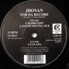 Jhovan - For Da Record - Conscious Records - CON 15