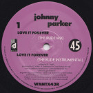Johnny Parker - Love It Forever (Remixes) - Desire Records - WANTX43R