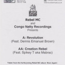 Rebel MC - Born Again - Part 6 - Congo Natty - CNV 6