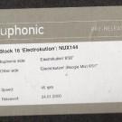 Block 16 - Electrokution - Nuphonic - NUX 144P