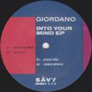 Giordanø - Into Your Mind EP - Sävy Records - SAVY002