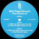 Rick Howard - I Won't Lay Back EP - Hour House Is Your Rush Records - HHYR6