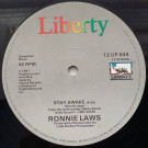 Ronnie Laws - Stay Awake / Heavy On Easy - Liberty - 12 UP 644