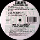 Sublevel Featuring Donnell Rush - Time To Celebrate - Basement Boys Records - BB004-1