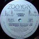 Lowrell Simon - Love Massage - Zoo York Recordz - 4W9 02617