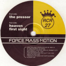 Force Mass Motion - The Pressor - Rabbit City Records - CUT 027