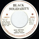 Tristan Palmer - Bad Minded - Black Solidarity - B.S. 004