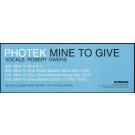 Photek - Mine To Give - Science - QEDTDJX10
