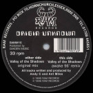 Origin Unknown - Valley Of The Shadows - RAM Records - RAMM16, RAM Records - RAMM 16