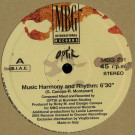Optik - Music Harmony And Rhythm - MBG International Records - MBG 291