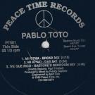 Pablo Toto - Mi Ritma / Iye Que Rico - Peace Time Records - PT501
