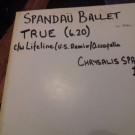 Spandau Ballet - True - Reformation - SPANX 1, Reformation - Span X1, Chrysalis - SPANX 1, Chrysalis - Span X1