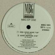 MBG - EP One - MBG International Records - MBG 1091