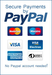Paypal payment processing with all major cards